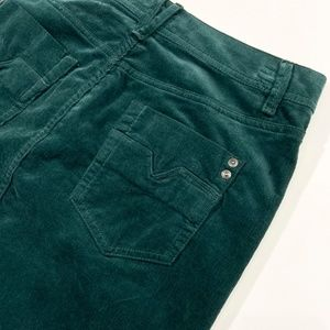 Deep Teal Corduroy Mid Rise Skirt Size 4